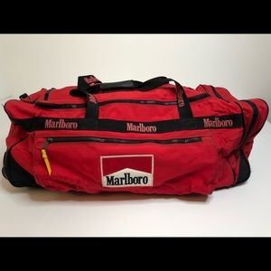 VTG Marlboro Official Duffle Rolling Travel Bag
